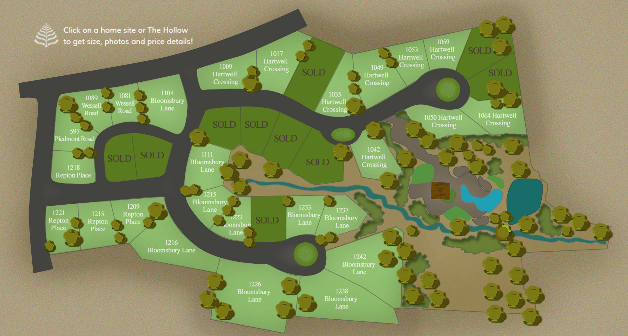 Gainesville Gardens Homesites Map